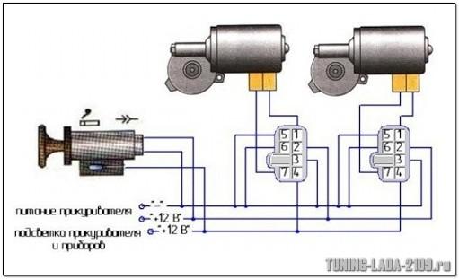steklopodjemniki15 - Электрическая схема подключения стеклоподъемника