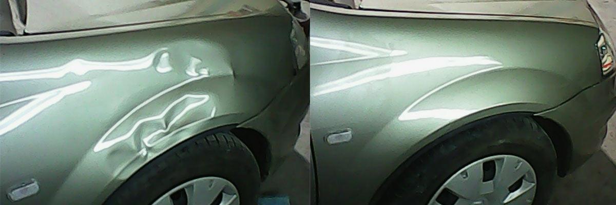 Как удалить вмятину на кузове авто без покраски