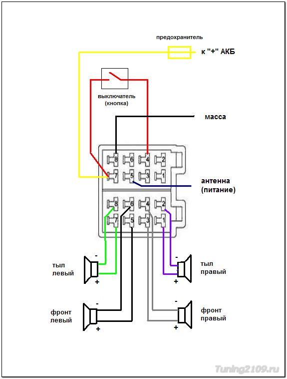 Supra схема магнитолы