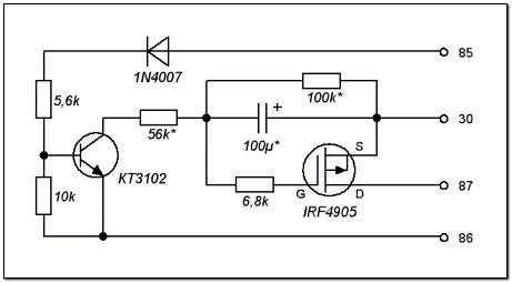 Схема реле на irf4905