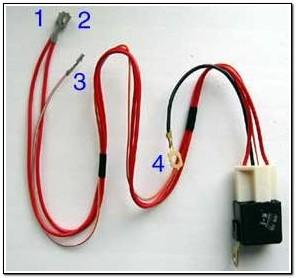 Реле с колодкой и проводами