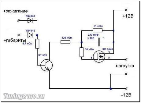 ламп накаливания. схема