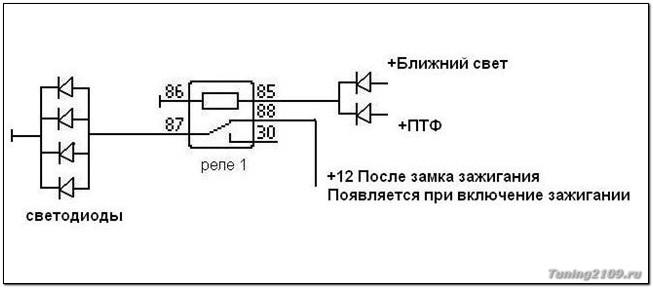 Схема. Схема подключения