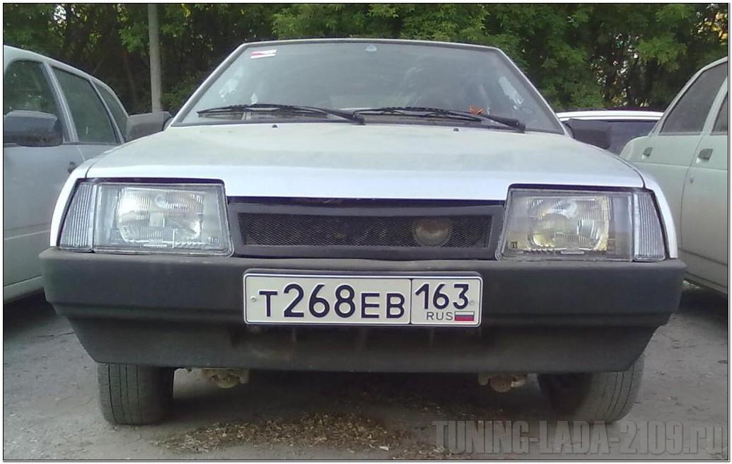 Черные фары ВАЗ 2109