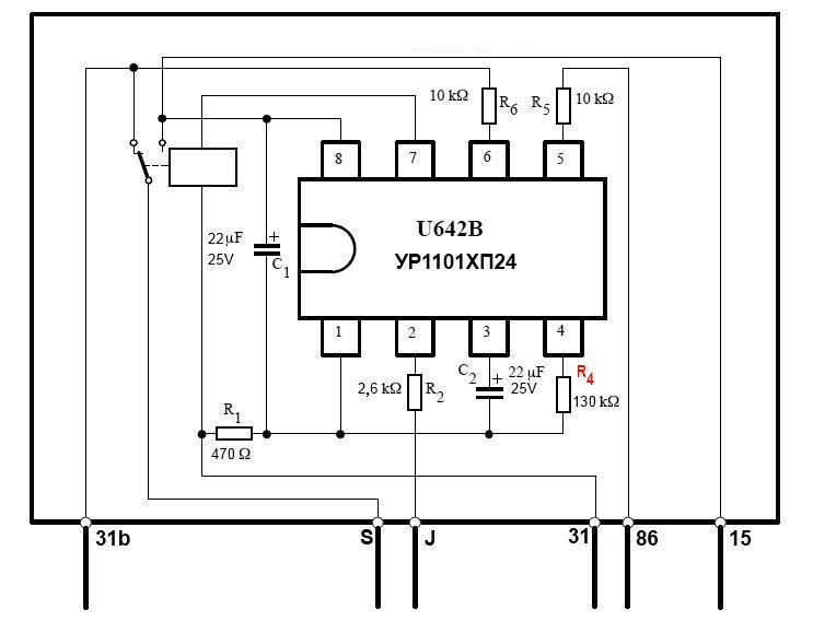 Схема реле дворников ВАЗ 2109
