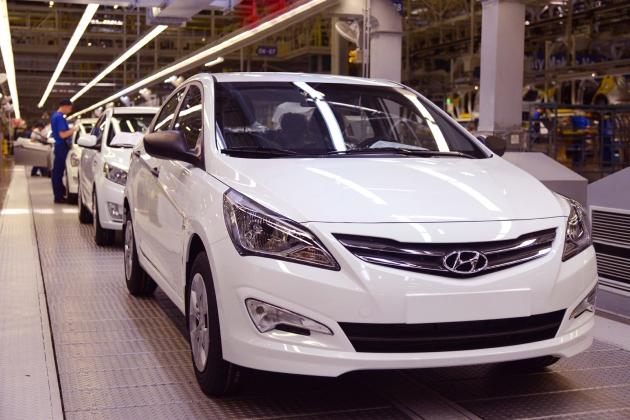 Лидером c производства иномарок стал завод Hyundai