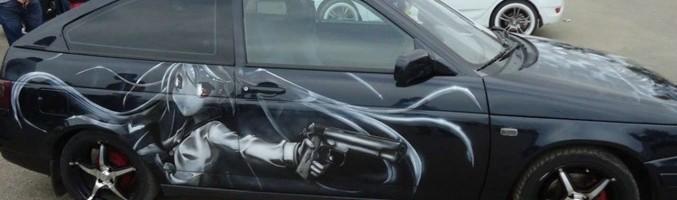Автомобиль ВАЗ с аэрографией