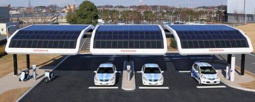 зарядные станции для электромобилей из солнечных батарей